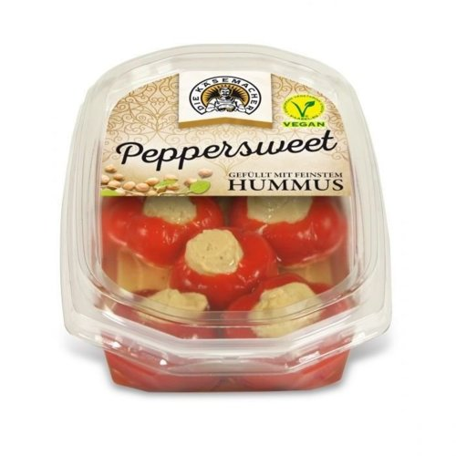 Peppersweet filled with finest Hummus