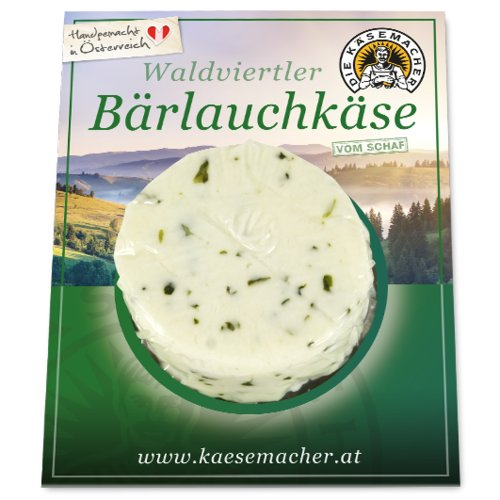Waldviertler sheep's milk cheese with wild garlic