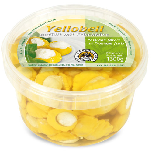 Yellobell filled with fresh cheese