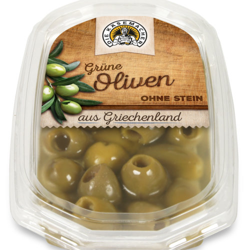Pitted green olives from Greece