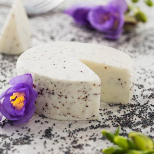 Waldviertler sheep's milk cheese with poppy seeds