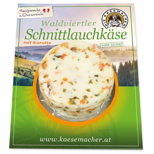 Waldviertler sheep's milk cheese with chives and carrots
