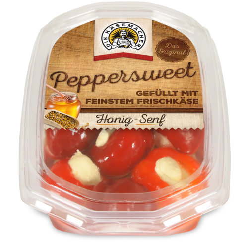 Peppersweet filled with honey mustard fresh cheese