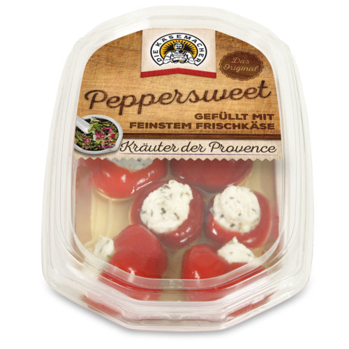 Peppersweet filled with herbs fresh cheese