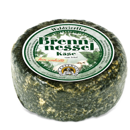 Waldviertler sheep´s milk cheese with nettle leaves