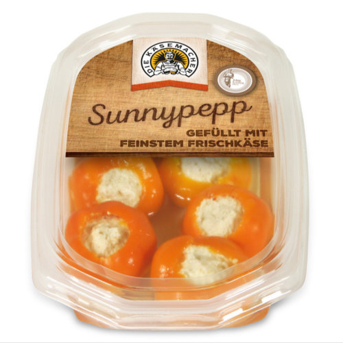 Sunnypepp filled with fresh cheese